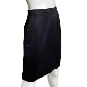 Kenzo Pencil Skirt Black Cotton Sz 36 Vintage